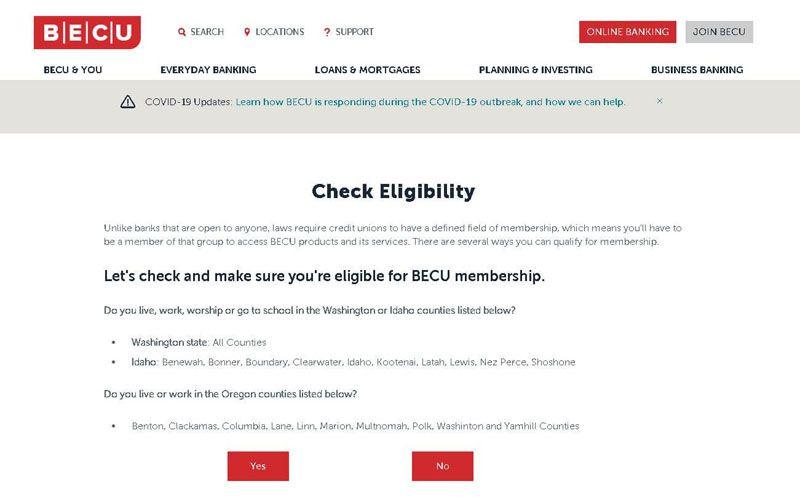 becu banking check eligibility