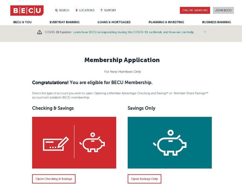 becu membership application