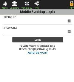 woodforest mobile banking login