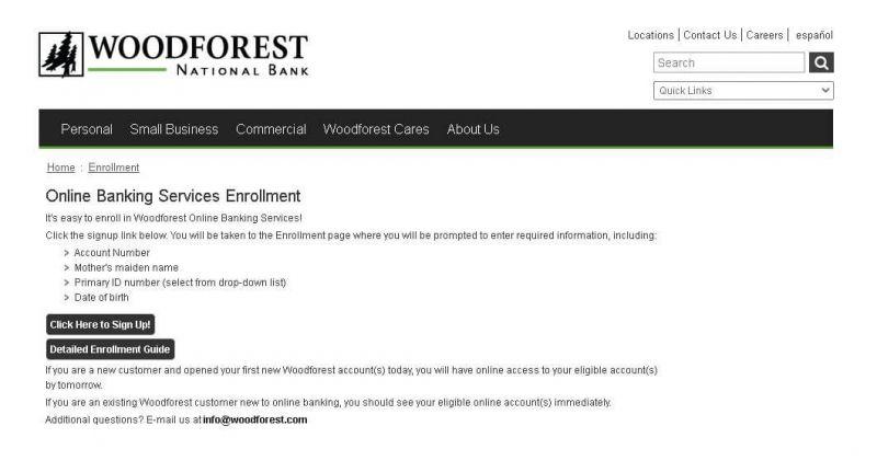 woodforest national bank enroll guide