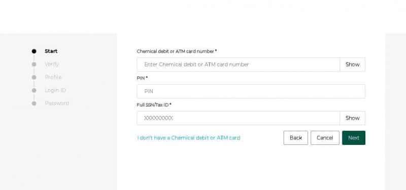 Enrollment process Chemical Bank