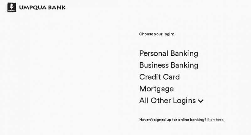 Umpqua Bank Login Process