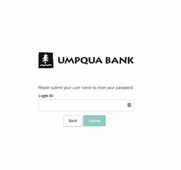 Umpqua Forgot Password