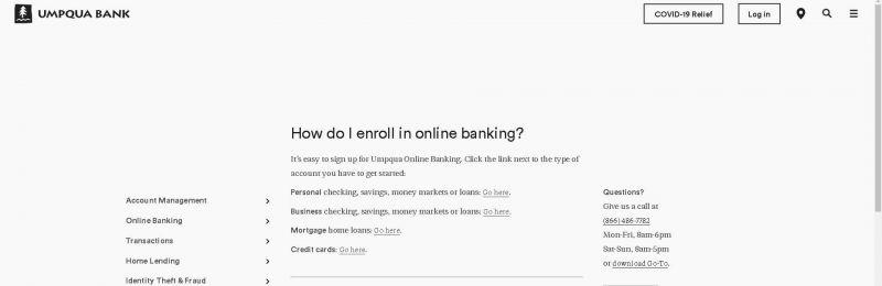 how do i enroll in online banking Umpqua Bank