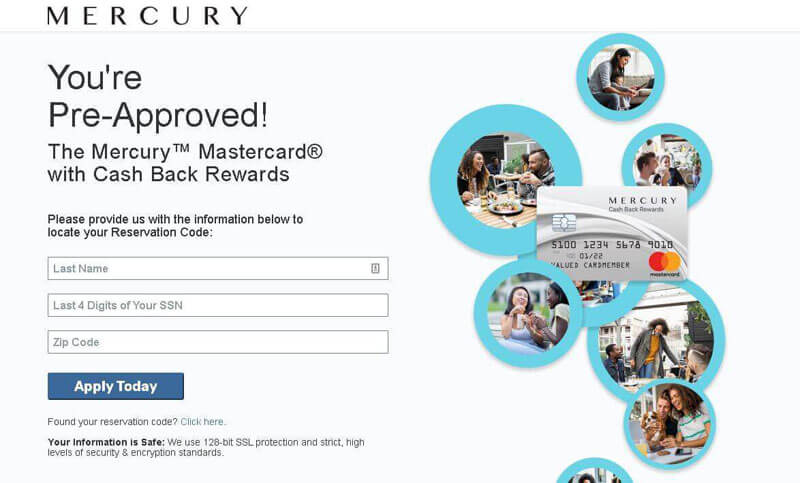 mercury card lost reservation code