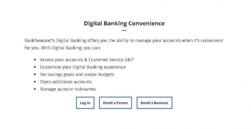 banknewport digital banking enrollment