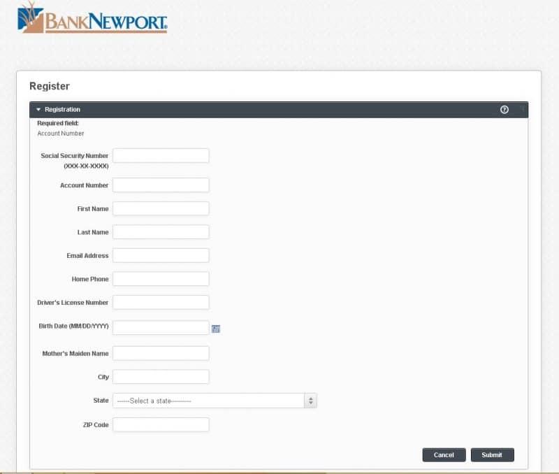 banknewport enrollment
