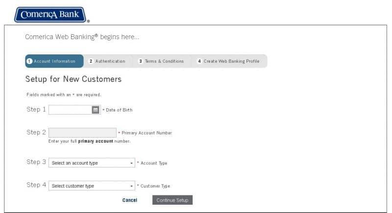 Comerica Bank Online Banking Enrollment