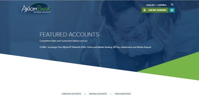 Axiom Bank Enrollment