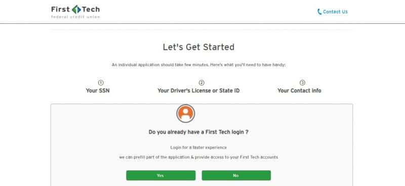First Tech Bank Enrollment