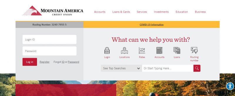 Mountain America Credit Union Homepage