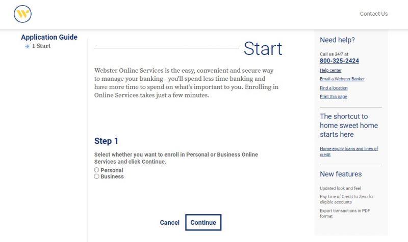 Webster Bank Enrollment
