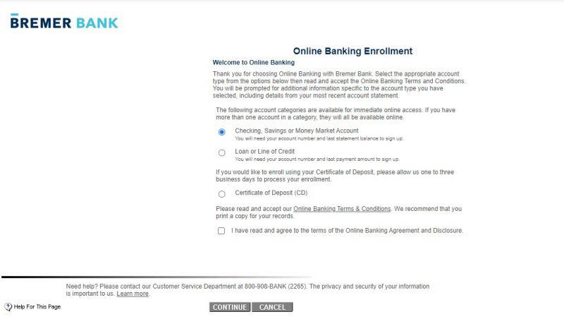 Bremer Bank Enrollment1
