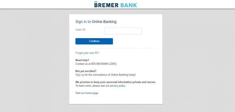 Bremer Bank Login