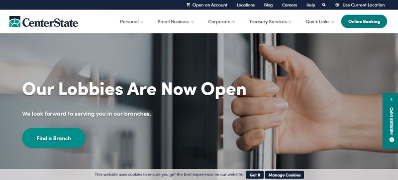 Center State Bank Homepage