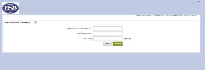 Hebron Savings Bank ForgotPassword