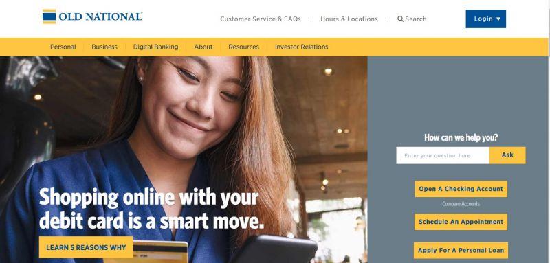 Old National Bank Homepage