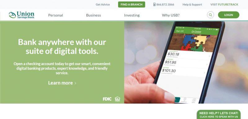 Union Savings Bank Homepage