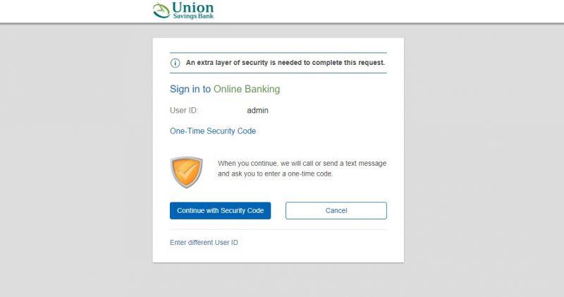 Union Savings Bank Login1