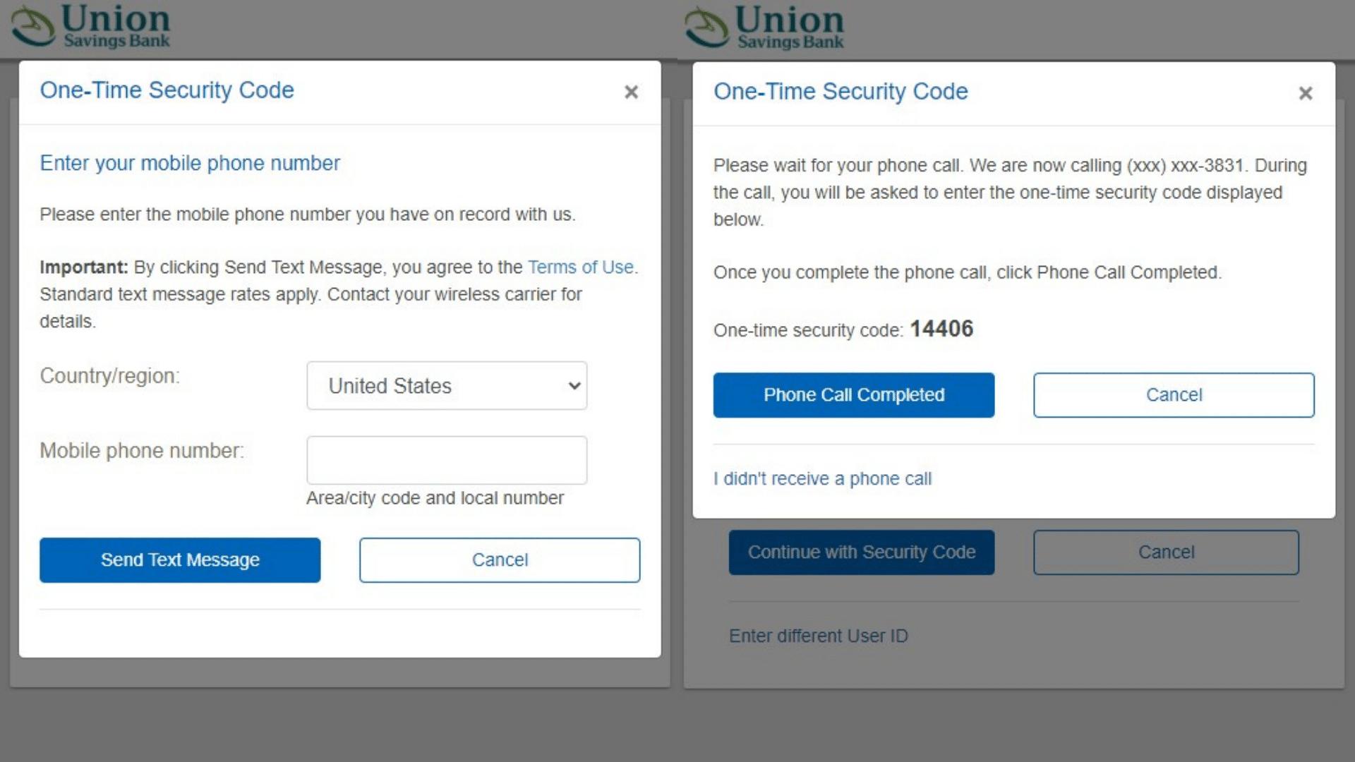 Union Savings Bank Login3