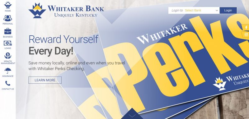 Whitaker Bank Homepage