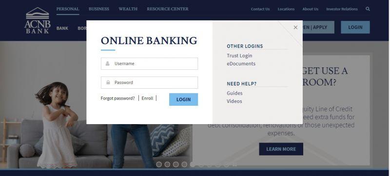 ACNB Bank login