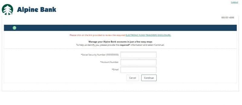 Alpine Bank Enrollment