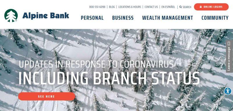 Alpine Bank Homepage