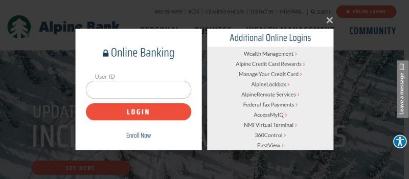 Alpine Bank Login