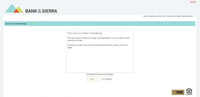 Bank of the Sierra Enrollment