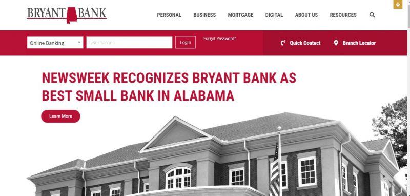Bryant Bank Homepage