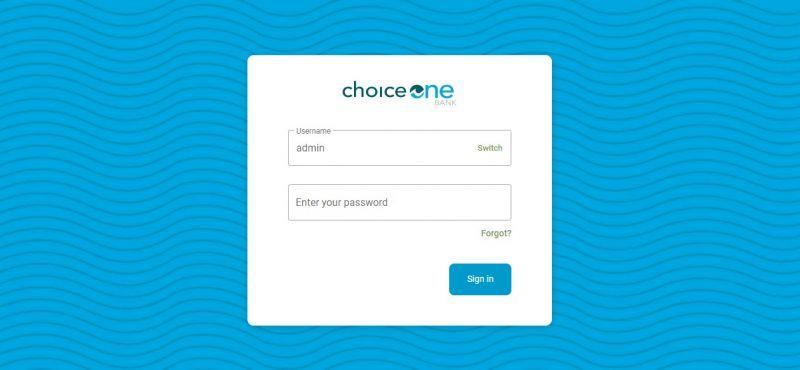 Choice One Bank Login