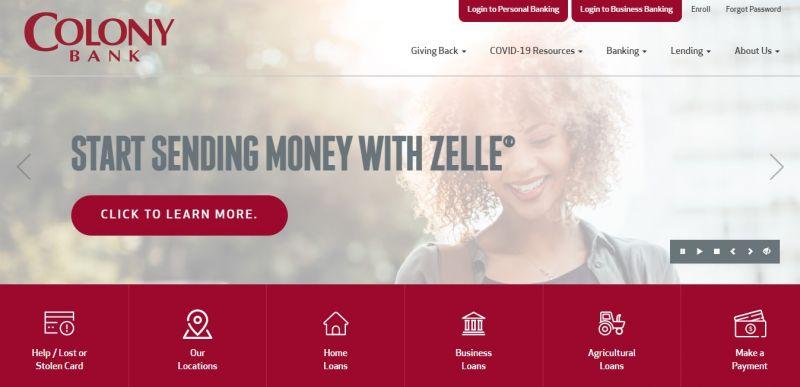 Colony bank HomePage