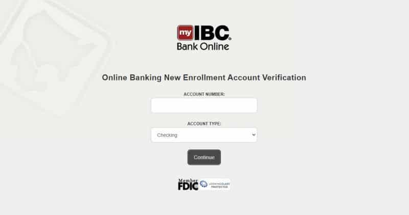 IBC bank Enrollment