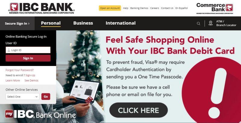 IBC bank HomePage
