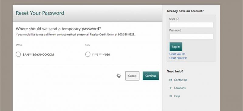 Patelco Credit Union Bank ForgotPassword1