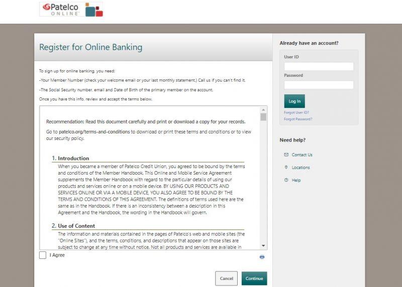 Patelco Credit Union Enrollment