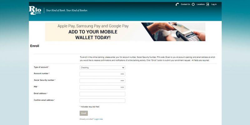 Rio Bank Enrollment