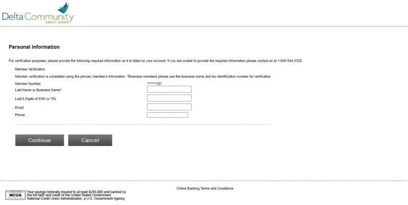 Delta Community Credit Union Enrollment