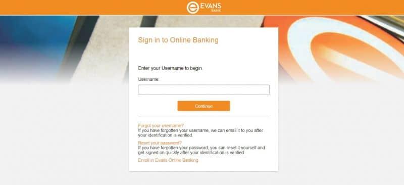 Evans Bank Login