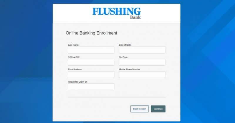 Flushing Bank Enrollment