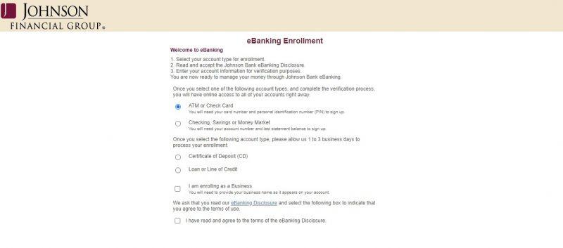 Johnson Bank Enrollment
