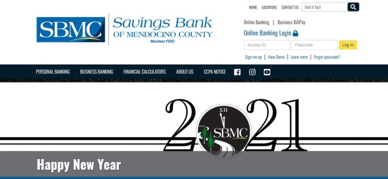 Savings Bank of Mendocino County HomePage