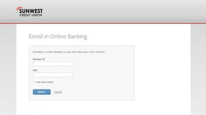 Sunwest Federal Credit Union Enrollment