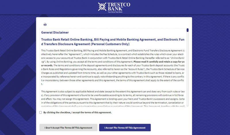 Trustco Bank Enrollment