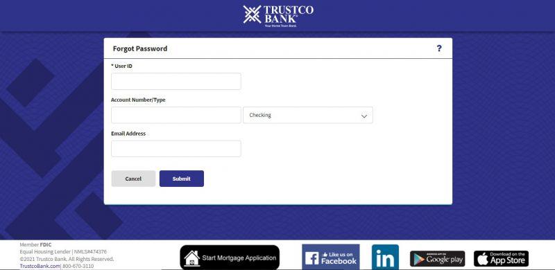 Trustco Bank ForgotPassword