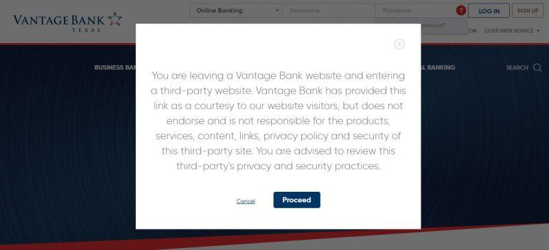 Vantage Bank Enrollment