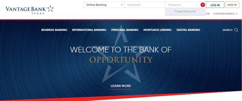 Vantage Bank ForgotPassword