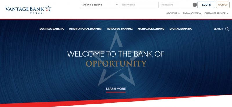 Vantage Bank HomePage