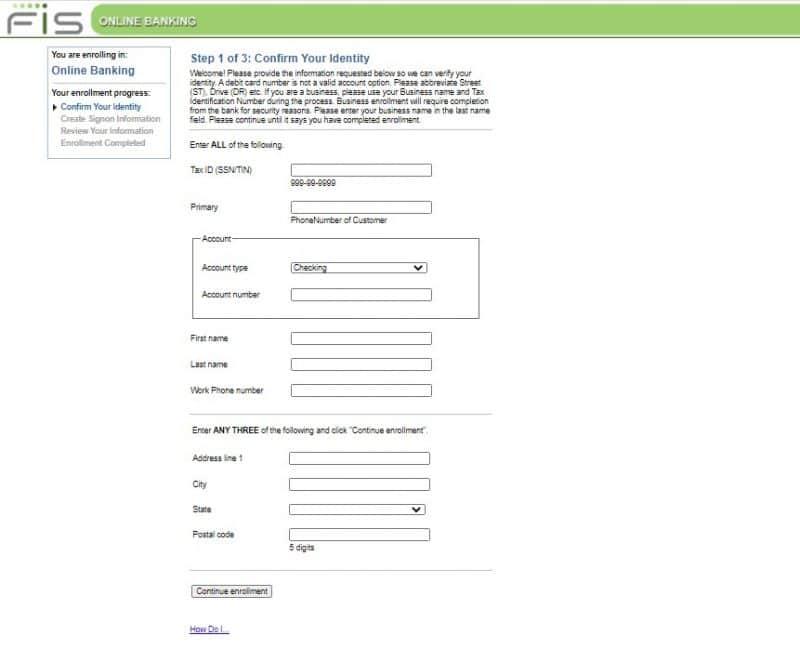 Virginia Bank and Trust Enrollment